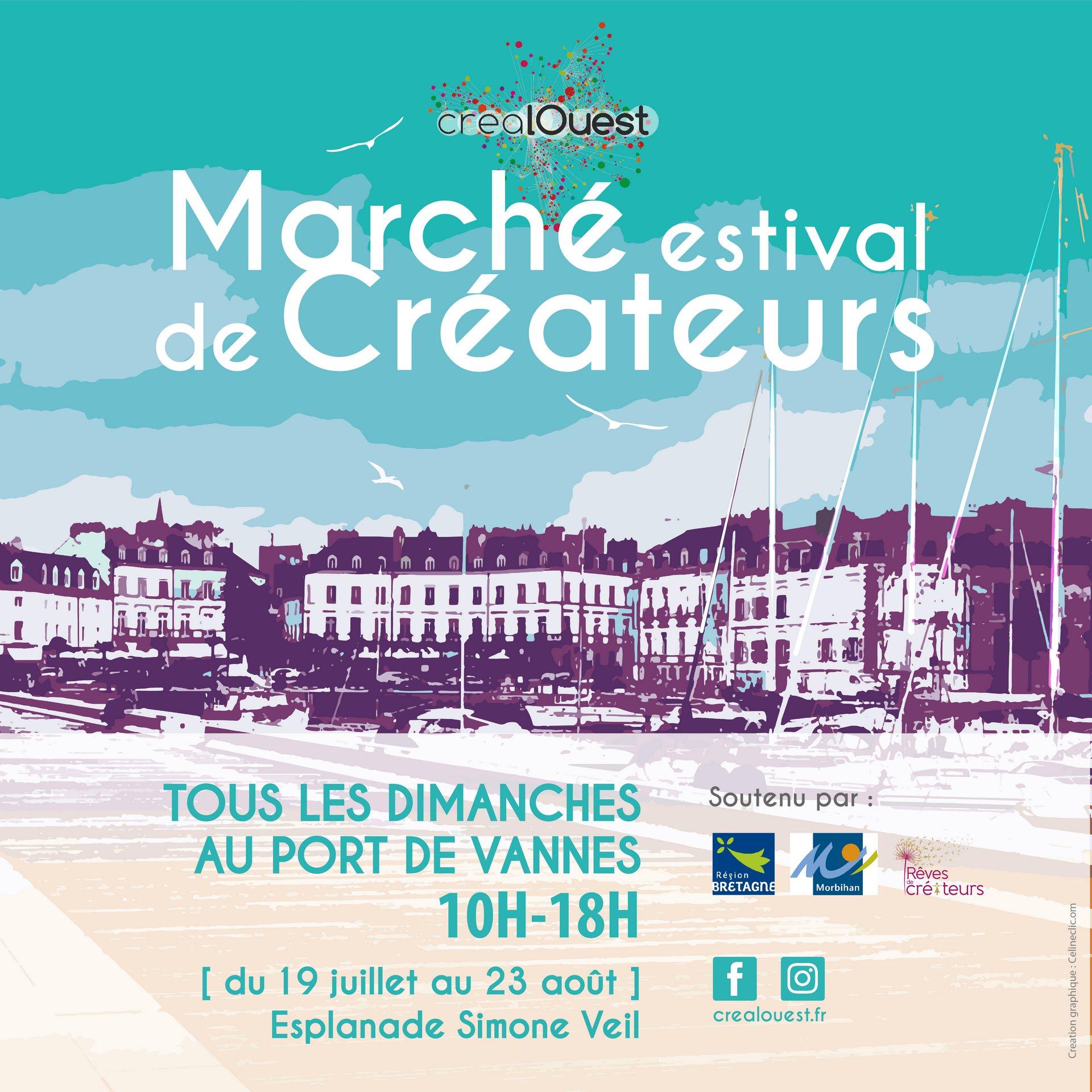 crealOuest, marché estival de créateurs à Vannes