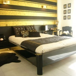effet décoratif noir et or C delbary
