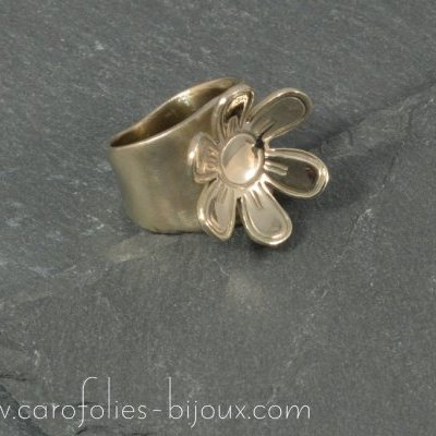 9 Bague Folie bronze blanc