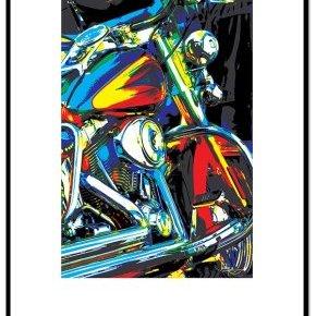 Chrome Tableau illustration Photo 60x80 Jacky a Française Bolide